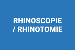 Rhinoscopie vétérinaire